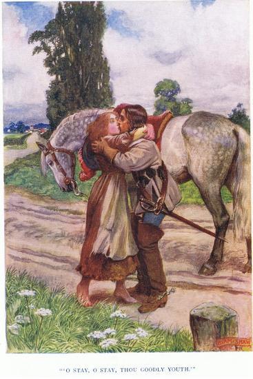 O Stay, O Stay, Thou Goodly Youth, 1928-John Byam Liston Shaw-Giclee Print