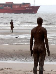 Another Place by Antony Gormley, Body Cast of Artist, Liverpool, UK by O'toole Peter