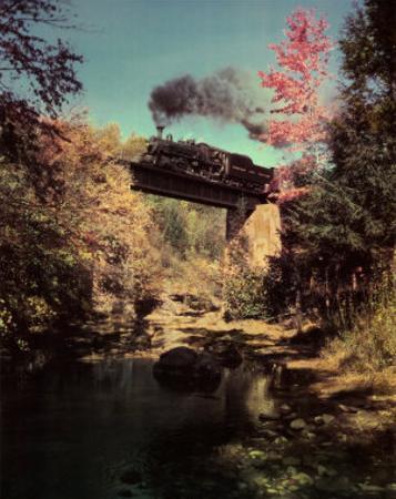 Train #201 East Bound over Bridge 52 on the Abingdon Branch, Virginia