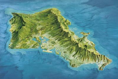 Oahu Island, Hawaii, USA-Gary Hincks-Photographic Print