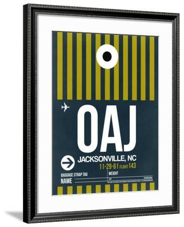 OAJ Jacksonville Luggage Tag II-NaxArt-Framed Art Print