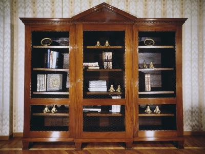 Oak Bookcase with Mahogany Veneer Finish, Circa 1790, France--Giclee Print