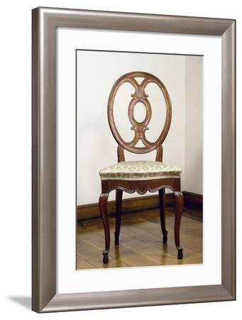 Oak Chair with Oval Openwork Back, Germany--Framed Giclee Print