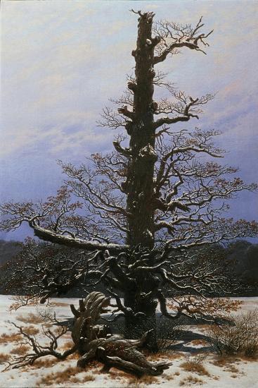 Oak Tree in the Snow-Caspar David Friedrich-Giclee Print