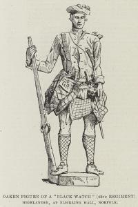 Oaken Figure of a Black Watch (42nd Regiment) Highlander, at Blickling Hall, Norfolk