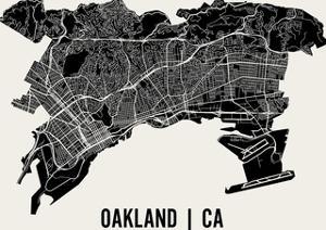 Oakland Map Art Print