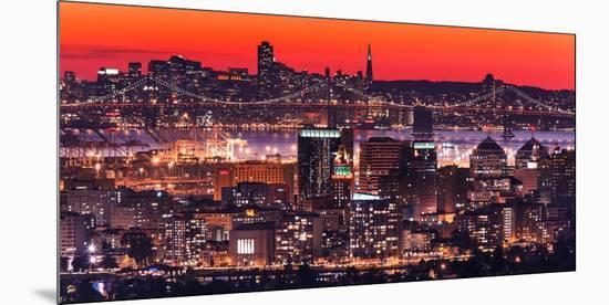 Oakland SF Twilight-Greg Linhares-Mounted Premium Photographic Print