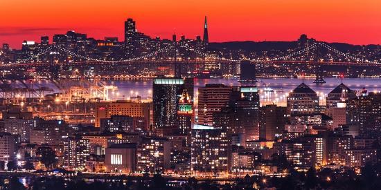 Oakland SF Twilight-Greg Linhares-Photographic Print