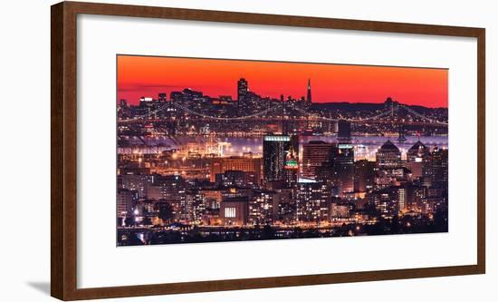 Oakland SF Twilight-Greg Linhares-Framed Photographic Print