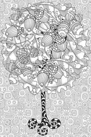 Oaktree Coloring Art