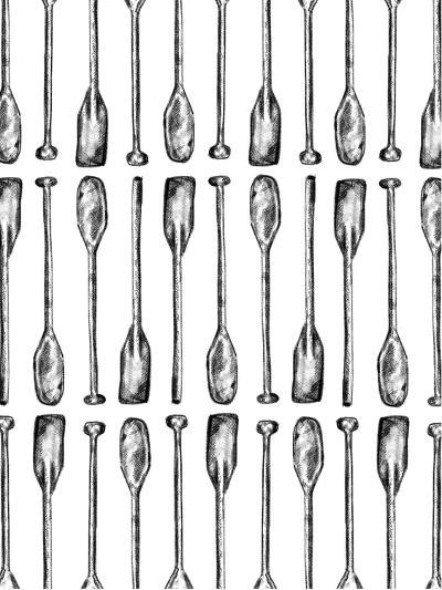 Oar Paddle Pattern-Jetty Printables-Art Print