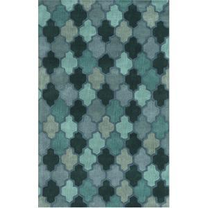 Oasis Area Rug - Teal/Blue Smoke 5' x 8'