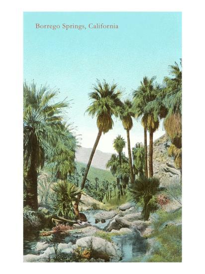Oasis Near Borrego Springs, California--Art Print