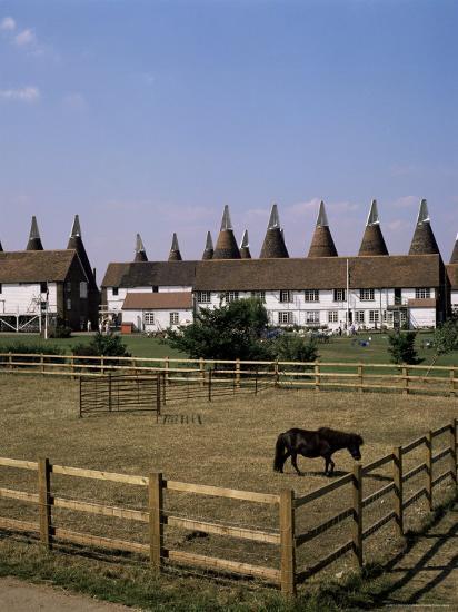 Oast Houses at Whitbread Hop Farm, Tonbridge, Kent, England, United Kingdom-G Richardson-Photographic Print