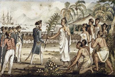 Oatehite, Illustration from 'The Voyages of Captain Cook'-Isaac Robert Cruikshank-Giclee Print