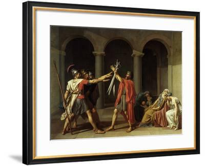 Oath of the Horatii-Jacques Louis David-Framed Giclee Print