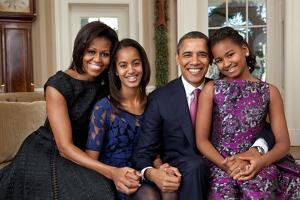 Obama Family Portrait, Dec. 11, 2011.