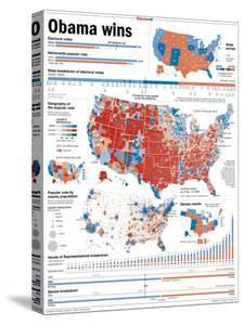 Obama Victory, Presidential Election 2008 Results by State and County