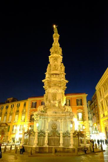 Obelisco Dell'Immacolata, Piazza Del Gesu Nuovo, Naples, Campania, Italy, Europe-Carlo Morucchio-Photographic Print