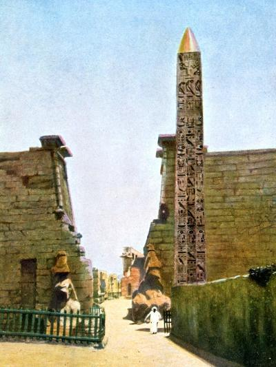 Obelisk at the Temple of Rameses Ii, Luxor, Egypt, 20th Century--Giclee Print