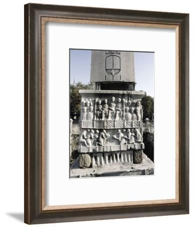 Obelisk erected by the Byzantine Emperor Theodosius I, Istanbul, Turkey, c395-Werner Forman-Framed Photographic Print