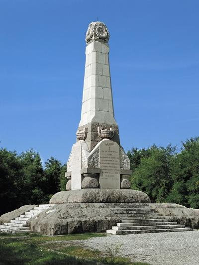 Obelisk in Memory of the Fallen in the Battle of Podgora--Giclee Print
