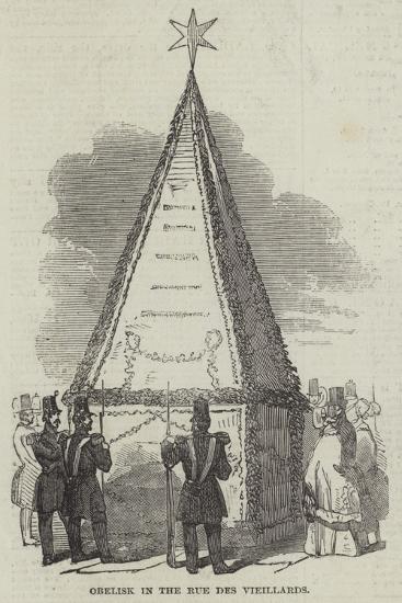 Obelisk in the Rue Des Vieillards--Giclee Print