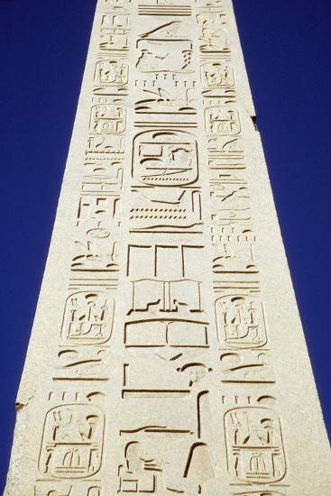 Obelisk of Tuthmosis Iii and Blue Sky, Close Up-Design Pics Inc-Photographic Print