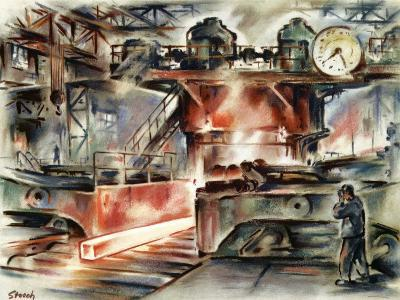 Oberhausen Steelworks, Artwork-CCI Archives-Photographic Print