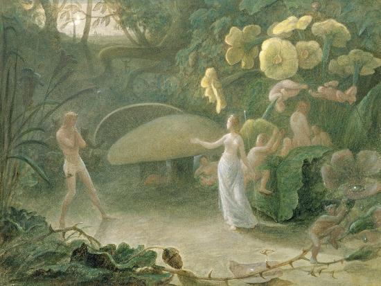 Oberon and Titania, a Midsummer Night's Dream, Act Ii, Scene I, by William Shakespeare (1566-1616)-Francis Danby-Giclee Print