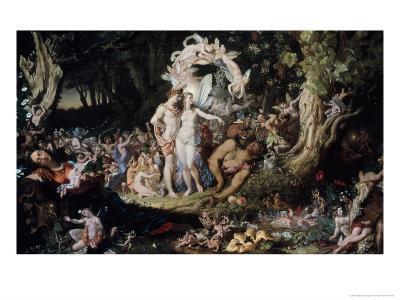 Oberon and Titania: Midsummer Night's Dream-Joseph Noel Paton-Giclee Print