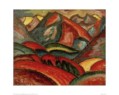 Oberstdorf, landscape-Alexej Von Jawlensky-Giclee Print