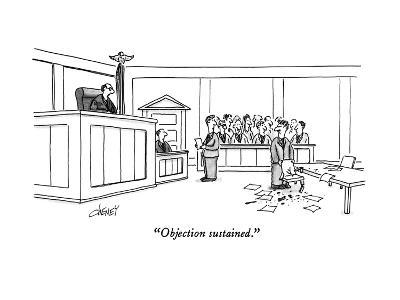 """Objection sustained."" - New Yorker Cartoon-Tom Cheney-Premium Giclee Print"