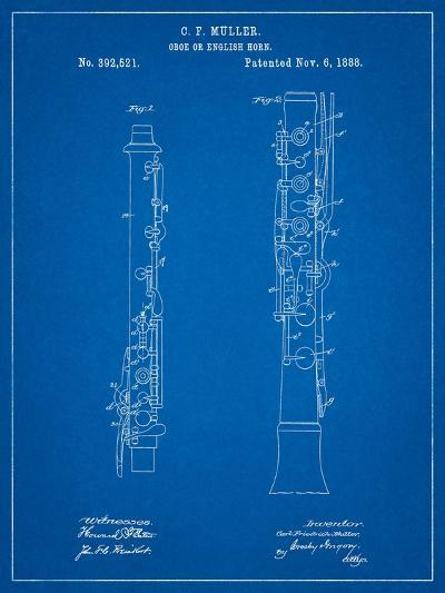 Oboe Patent-Cole Borders-Art Print