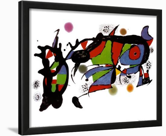 Obra de Joan Miro-Joan Miró-Lamina Framed Art Print