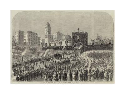 Obsequies of the Duke of Malakoff at Algiers on the 4 June--Giclee Print