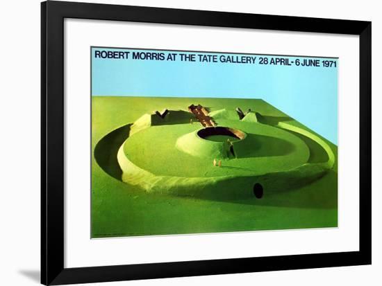 Observatory Earthwork: Project For Sousbeek 71, Arnhem-Robert Morris-Framed Art Print