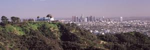 Observatory on a Hill with Cityscape in the Background, Griffith Park Observatory, Los Angeles, ...