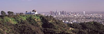 Observatory on a Hill with Cityscape in the Background, Griffith Park Observatory, Los Angeles, ...--Photographic Print