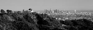 Observatory on a Hill with Cityscape in the Background, Griffith Park Observatory, Los Angeles