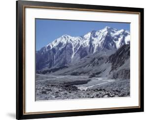 The Karakorum (Karakoram) Highway on the Chinese Side, with River Giz, Xinjiang, China, Asia by Occidor Ltd