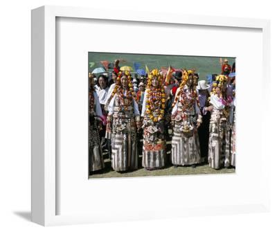 Women in Traditional Tibetan Dress, Yushu, Qinghai Province, China