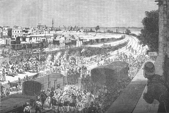 'Occupation of Zagazig, after the Battle of Tel-El-Kebir', c1882-Unknown-Giclee Print