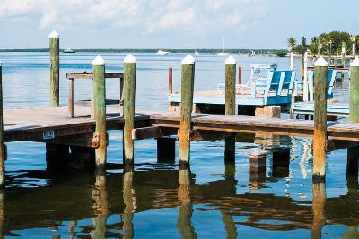 Ocean and Pier in Key Largo-MaryBethCharles-Photographic Print