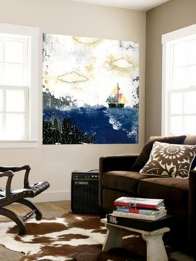 Ocean and Sailboat-Sarah Ogren-Wall Mural