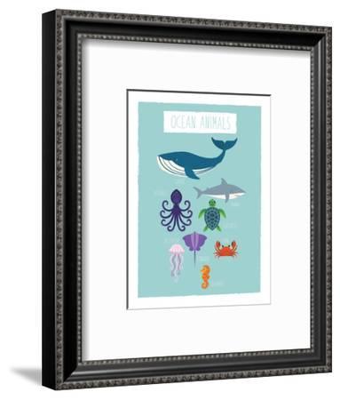 Ocean Animal Print-Kindred Sol Collective-Framed Art Print