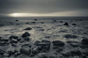 Ocean at Sunset, Montauk Point, Montauk, Long Island, New York State, USA