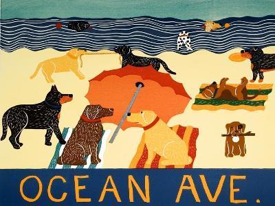 Ocean Ave-Stephen Huneck-Giclee Print