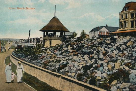 'Ocean Beach, Durban', c1914-Unknown-Giclee Print