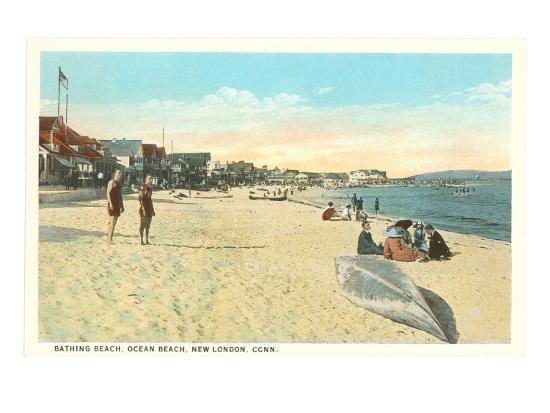 Ocean Beach, New London, Connecticut--Art Print